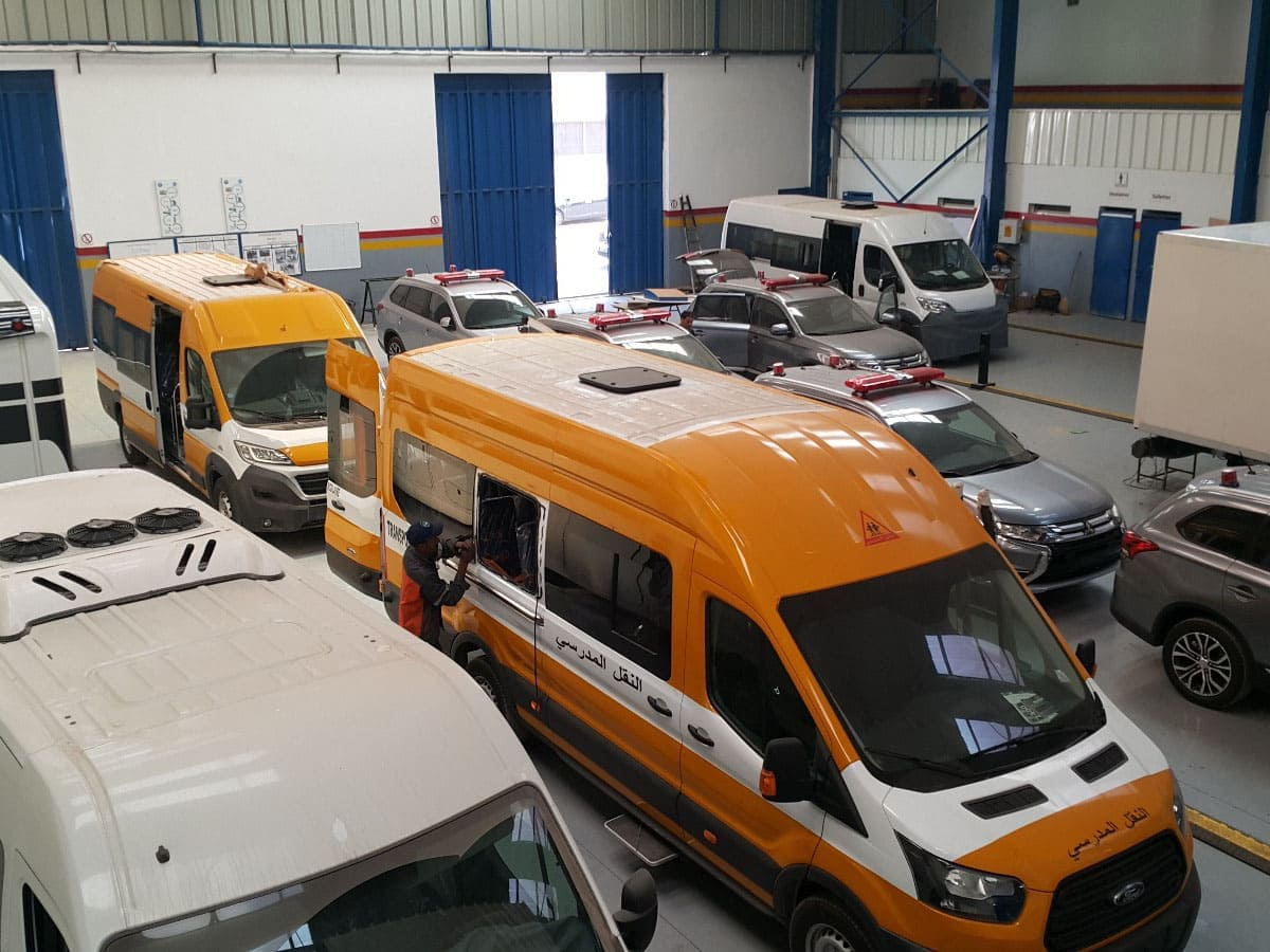 Interior Accessorries of Commercial Vehicles, Various Locations